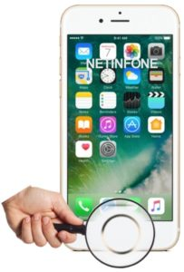 NETINFONE REMPLACEMENT BOUTON HOME IPHONE 6S PLUS (A1634/A1687/A1699)